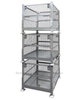 Collapsible Rigid Wire Container with Dual Drop Gate Stackable 3 High