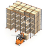 Seeds Pallet Storage Drive in Heavy Duty Rack 500kg Capacity