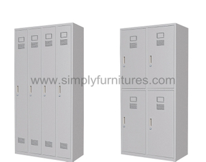 strong metal locker with 4 doors
