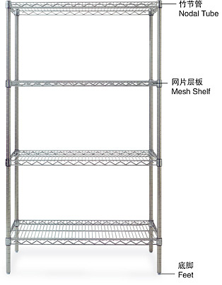 China stainless steel wire shelving