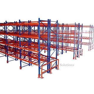 Carton Box Storage Standard Pallet Racking System Blue Upright Frame