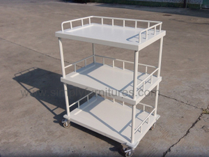 guard rail 3 layers medical cart