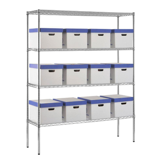 "18"" deep 4 layers Industrial wire shelving"