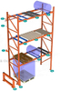 Heavy Duty Storage Selective Pallet Racking Ajustable Pitch
