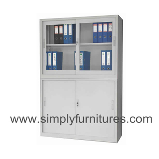 glass door metal office cupboard
