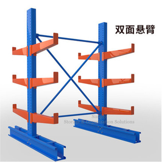 Double Sided Steel Cantilever Racking for Brass Pipe Storage