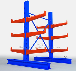 Long Metal Tubes Cantilever Racking Solutions Surface Spray