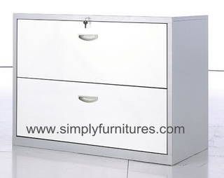 2 drawer metal lateral cabinet