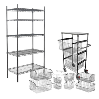 Wire Shelving with Baskets Hospital use