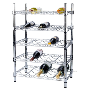 5-Layer Chrome plated Wire Wine Frame, Display Frame