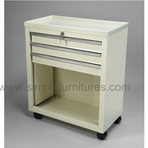 3 drawers treatment cart