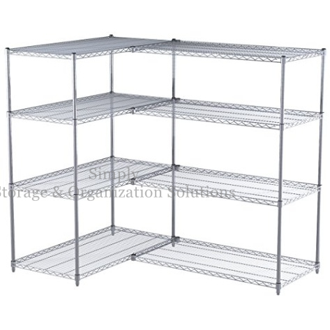 S hook wire shelf connectors for add on units
