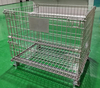 Durable Mesh 50 x 50 Folding Wire Container 48x40x42 Loading 1000lbs