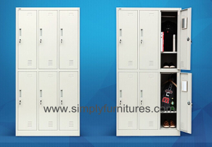 dorm storage cabinet with 6 doors
