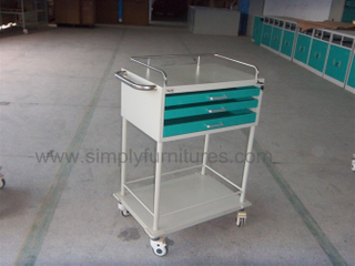 guard rail 3 drawers crash cart