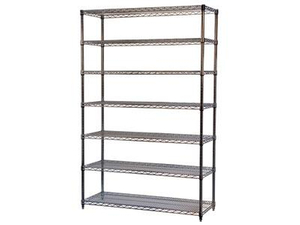 7 layers black painted wire shelving