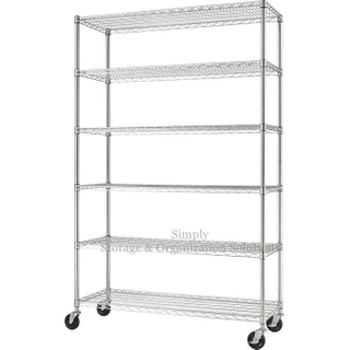 6 Tier Standing Organizer with Wheels Shelving Unit Product Sale Rack