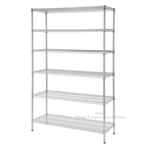 Heavy Duty Commercial Adjustable Chrome Shelving Unit Sales Shop Wire Rack