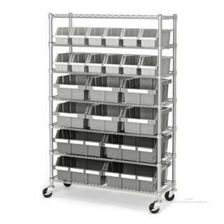 "Kitchen Classified Storage 7-Tier 22 Bins Rack Shelf 36"" W X 14"" D X 60"" H"