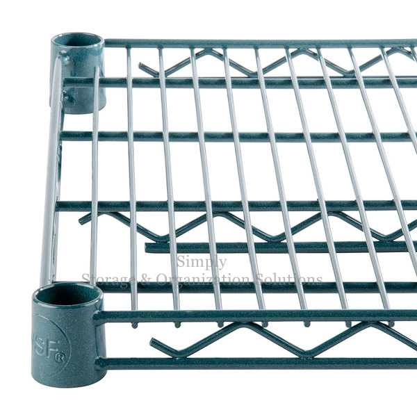 Heavy Duty Wire Shelving Unit Dark Green for Restaurant Storage 4 Tier
