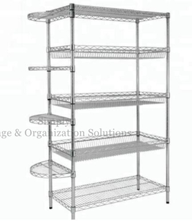 Commercial Storage Shelving Units with Fan-Shaped Mesh
