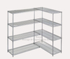 Large Capacity Chrome Plated Wire Shelving Unit Add on Kit Beverage Display