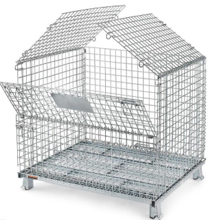 Space Saving 6.0 Mesh Metal Cage for Paper Paperboard Industry