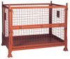 200kg - 800kg Foldable Orange Color Metal Pallet Crates for Toys Storage